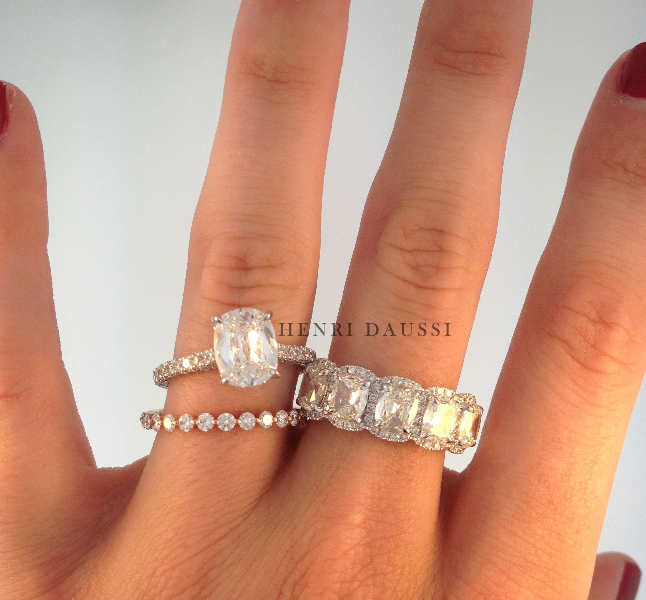 """Solitaire Engagement Ring, Rose Gold Diamond Band And 5 Intended For 2020 Diamond Seven Stone """"x"""" Anniversary Bands In Sterling Silver And Rose Gold (View 21 of 25)"""