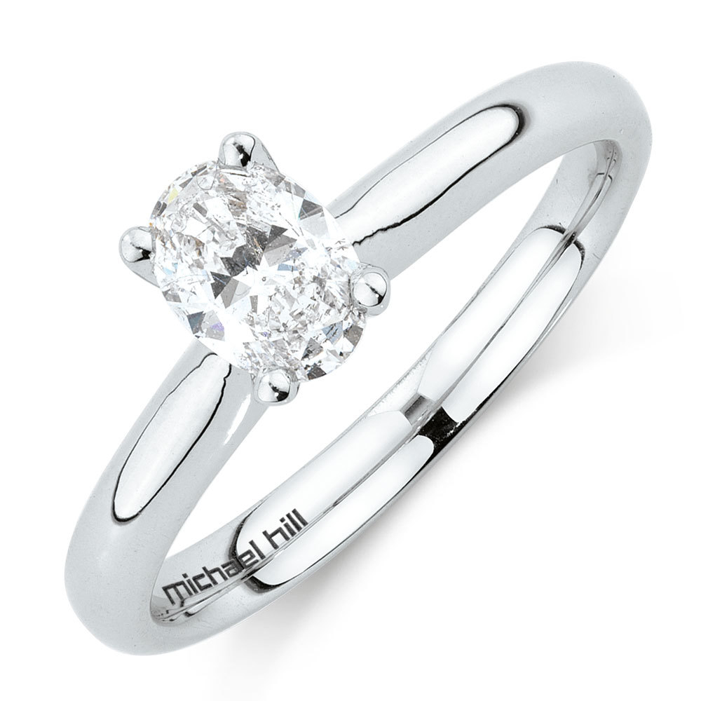 Solitaire Engagement Ring With A 1/2 Carat Tw Certified Inside Most Popular Certified Diamond Anniversary Bands In White Gold (View 17 of 25)