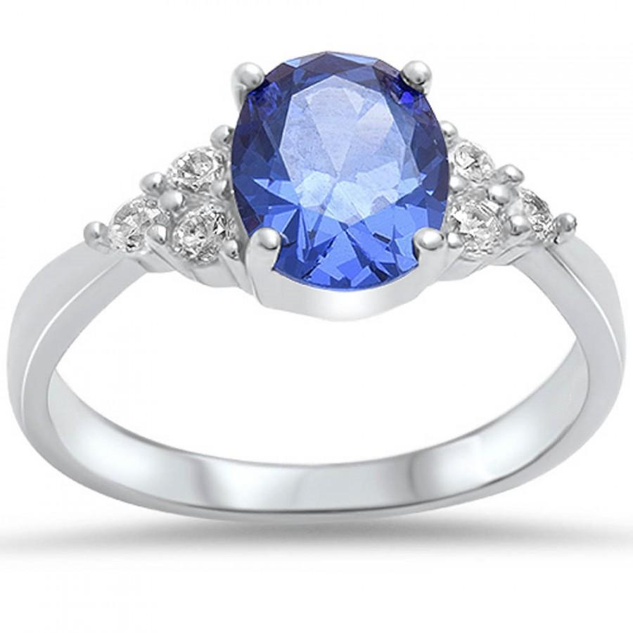 Solitaire Three Stone Accent Classic Wedding Engagement Ring 1.86Ct In Recent Clear Three Stone Rings (Gallery 24 of 25)