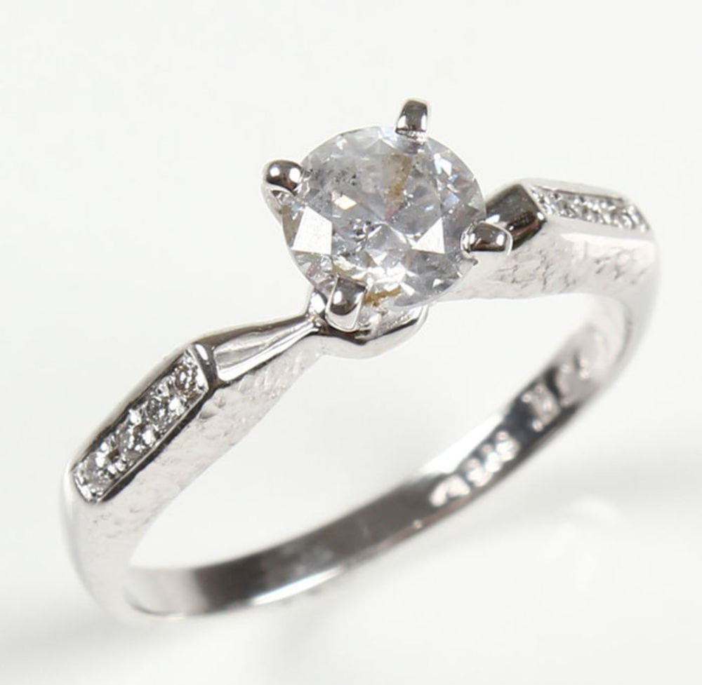 Sparkle In This Elegant Solitaire Ring ($965) With Accents (View 7 of 25)