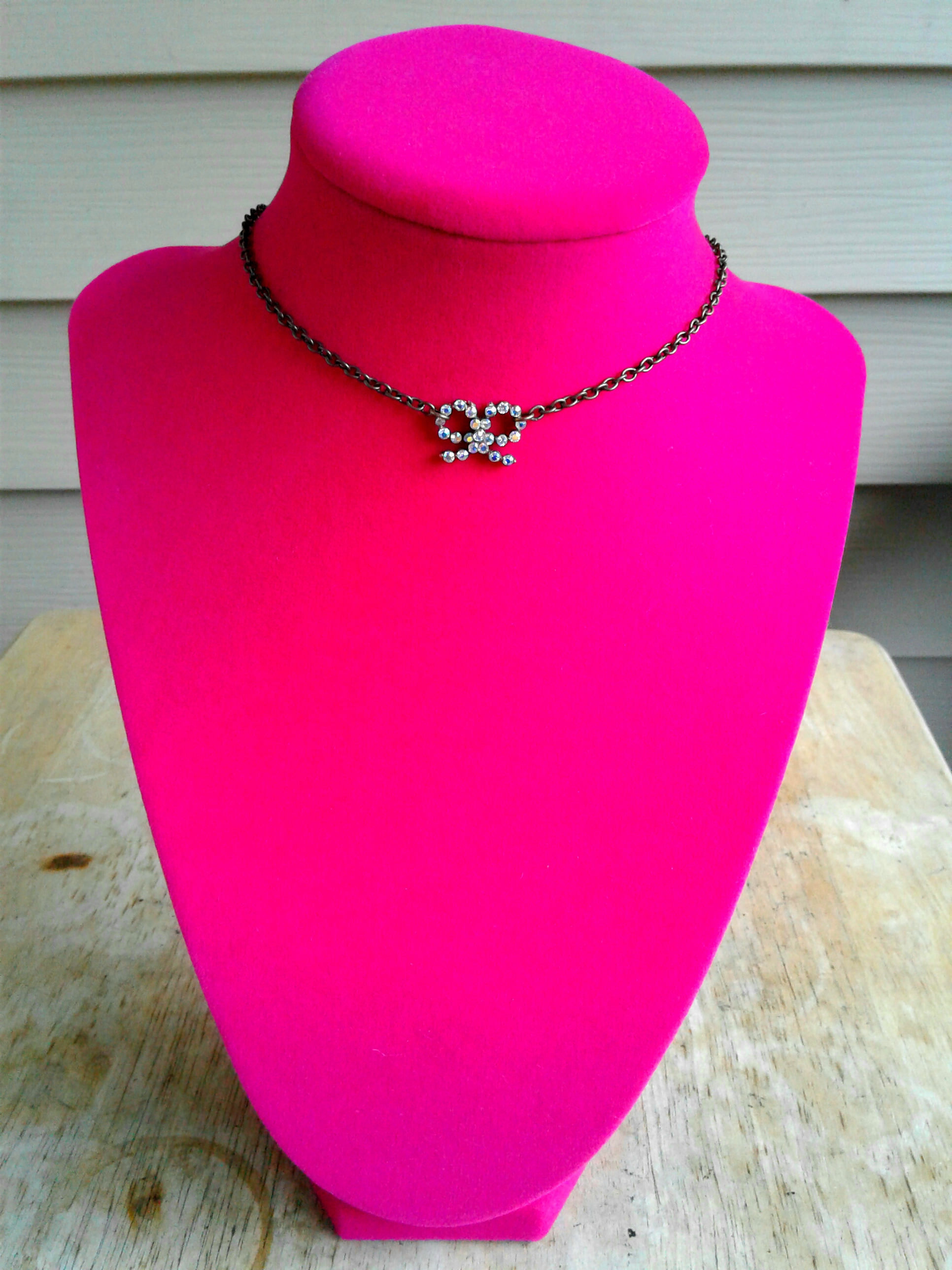 Sparkling Bow Choker Rhinestone Choker Necklace Chokers Bohemian Choker Bow  Charm Choker Bohemian Necklace Women's Choker From Artisanjewelrygifts Throughout Best And Newest Sparkling Bow Necklaces (View 16 of 25)