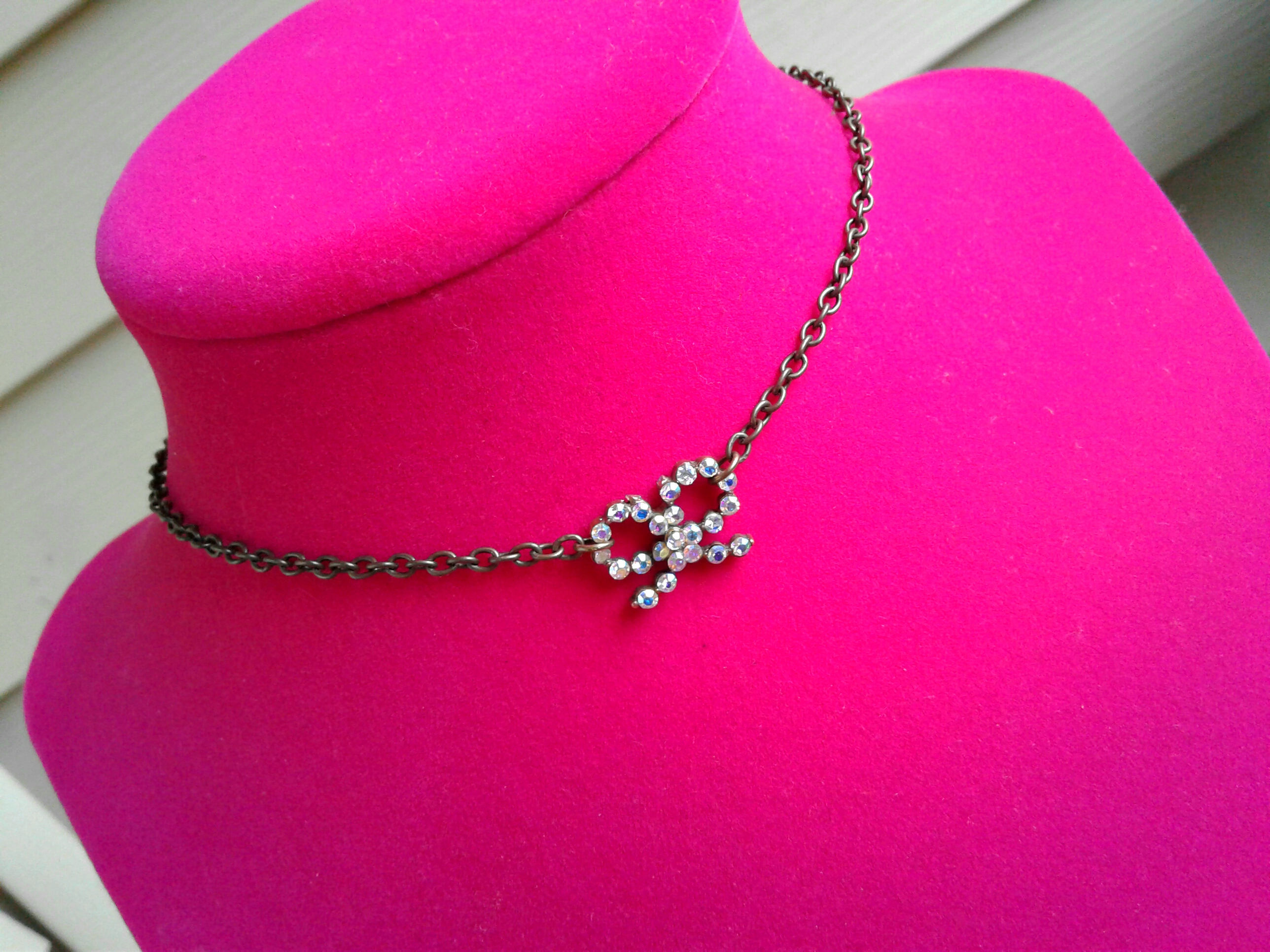 Sparkling Bow Choker Rhinestone Choker Necklace Chokers Bohemian Choker Bow  Charm Choker Bohemian Necklace Women's Choker From Artisanjewelrygifts Throughout Most Current Sparkling Bow Necklaces (View 17 of 25)