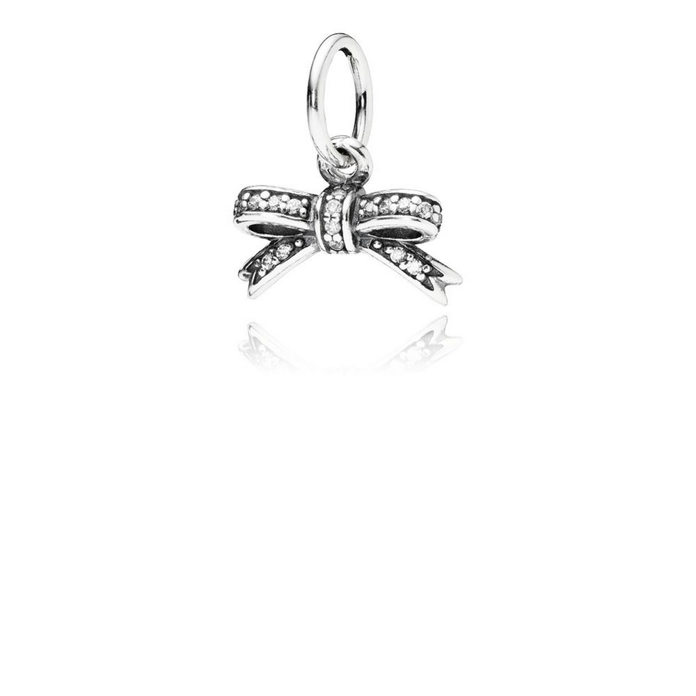 Sparkling Bow Pendant, Clear Cz [1622242080] – $ (View 21 of 25)