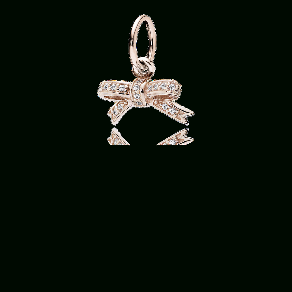 Sparkling Bow Pendant, Pandora Rose™ & Clear Cz [498792077] – $ (View 22 of 25)