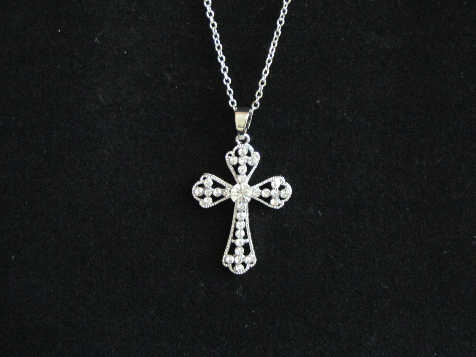 Sparkling Cross Necklace Pertaining To Recent Sparkling Cross Pendant Necklaces (View 1 of 25)