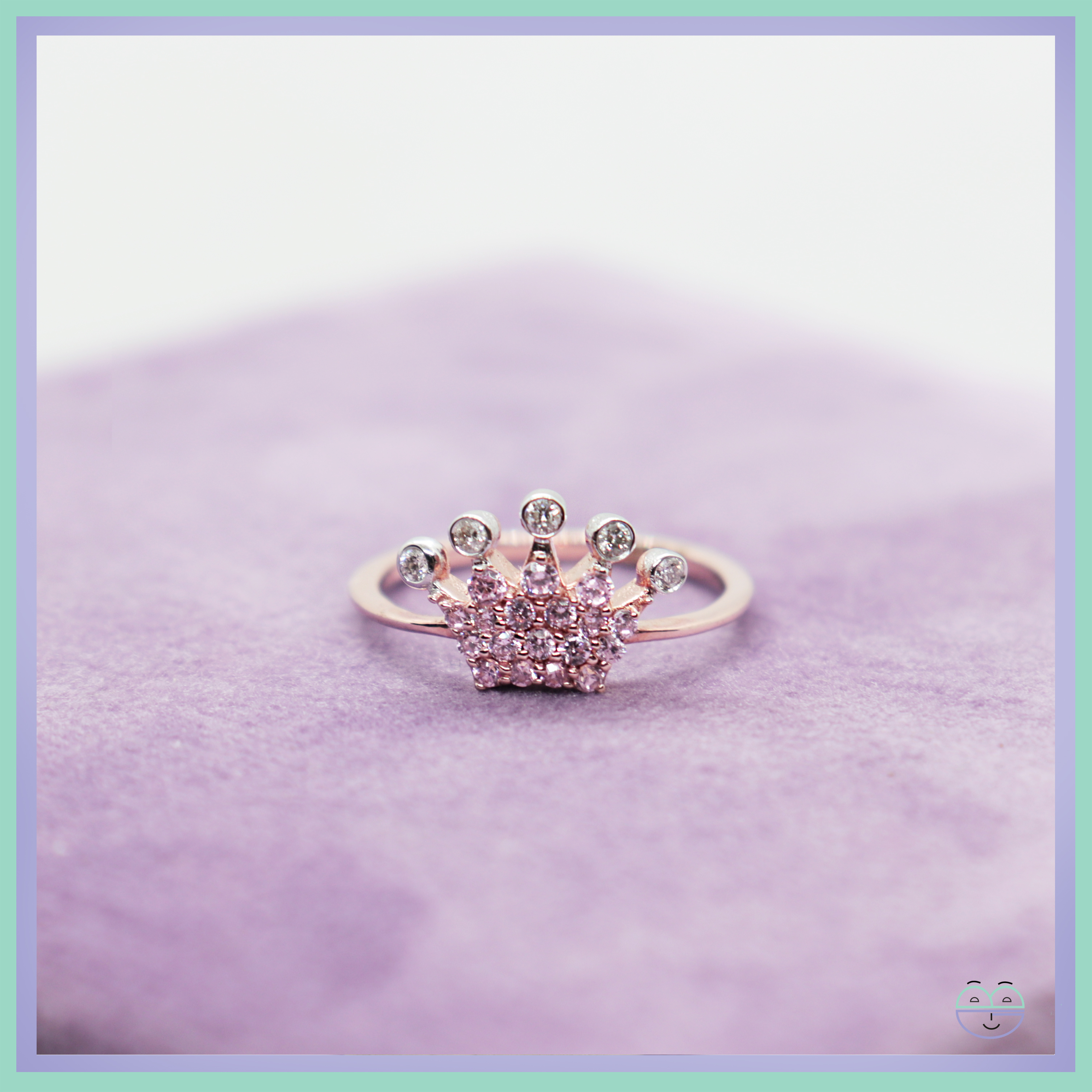 Sparkling Crown Ring Throughout Most Current Pink Sparkling Crown Rings (View 4 of 25)