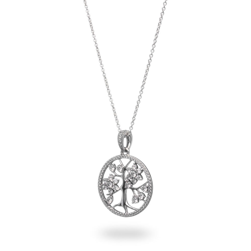 Sparkling Family Tree Necklace For Recent Twinkling Christmas Tree Locket Element Necklaces (View 7 of 25)