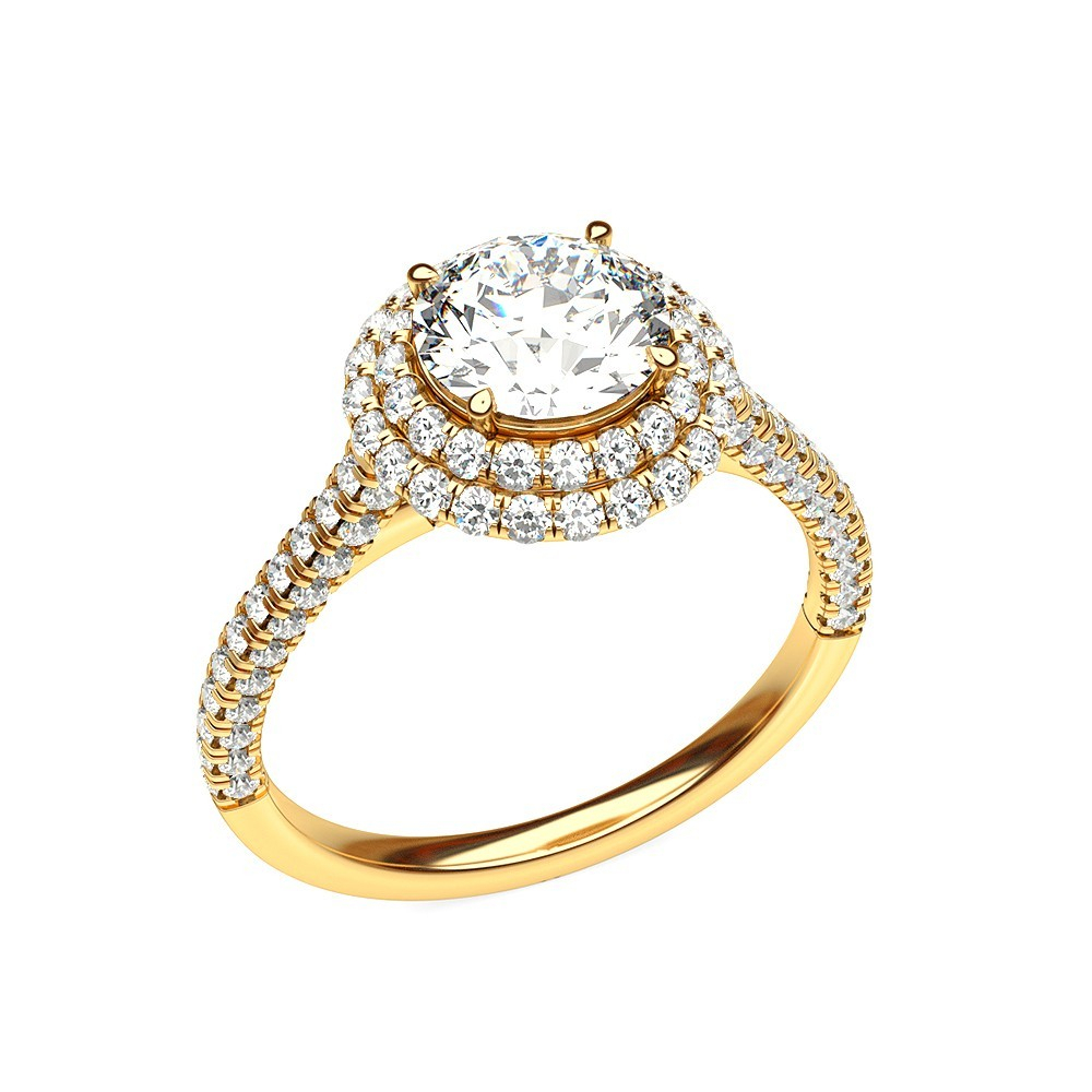 Sparkling Halo Diamond Ring – Rings – Diamonds | Diamond Mela Inside Most Up To Date Sparkling Halo Rings (Gallery 23 of 25)