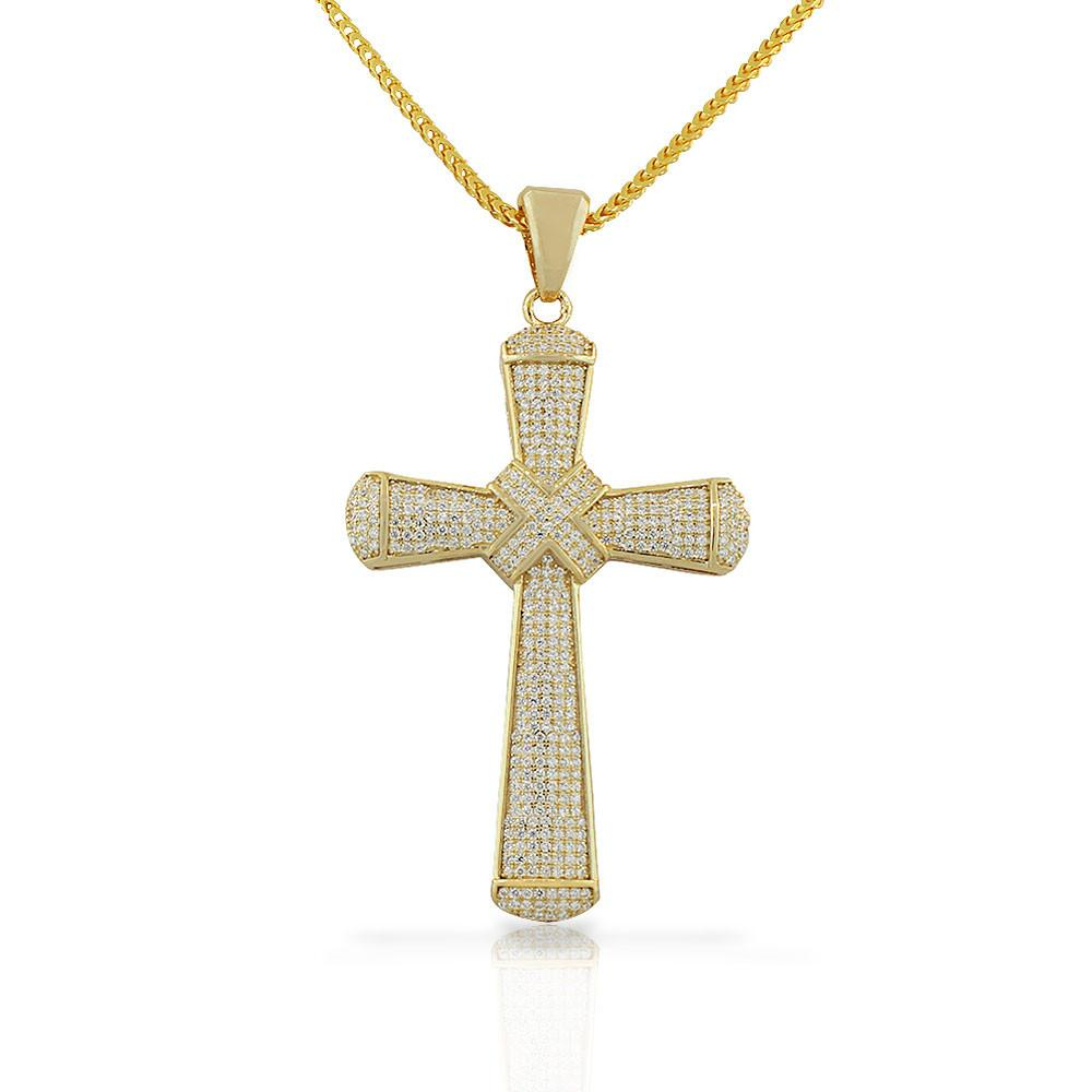 Sparkling Hip Hop Cross Necklace | Products | Pendant Necklace Within Most Recently Released Sparkling Cross Pendant Necklaces (Gallery 21 of 25)