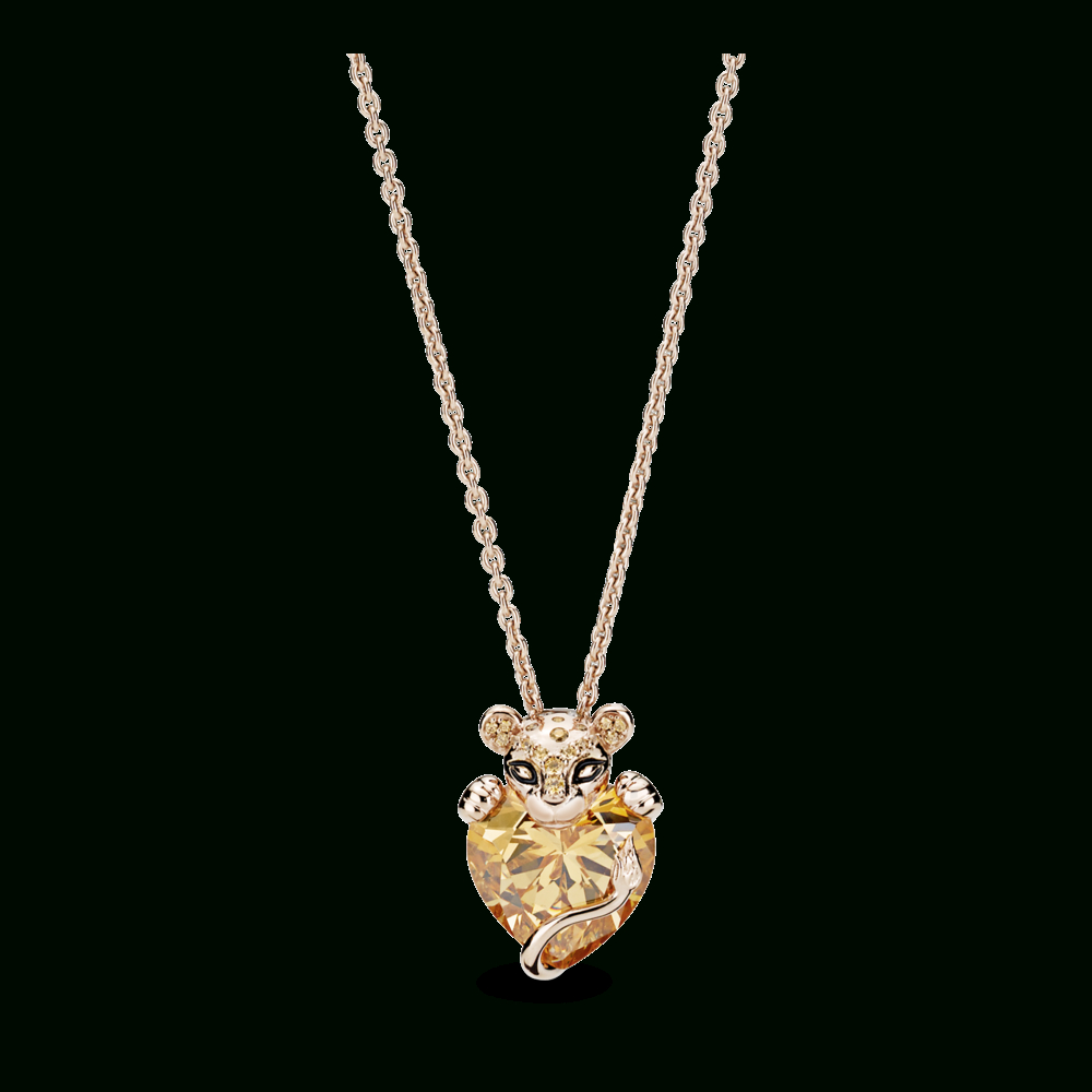 Featured Photo of Sparkling Lioness Heart Pendant Necklaces