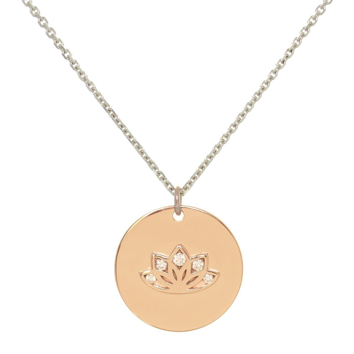Sparkling Lotus Mymantra Personalised Necklace | Sterling Silver, Gold And  Rose Gold In Most Up To Date Sparkling Family Tree Necklaces (View 20 of 25)