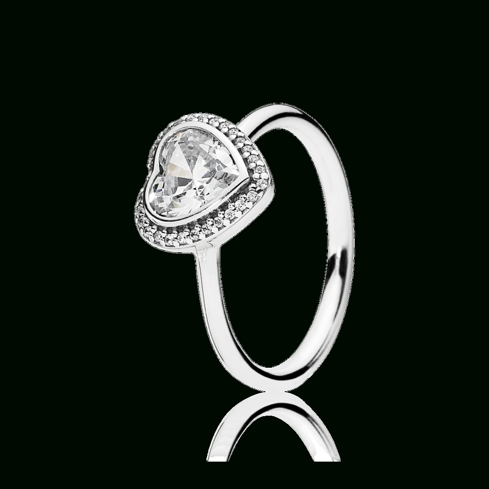 Sparkling Love Heart Ring, Clear Cz [190929Cz_1791] – $85.64 : Black For Most Current Heart Shaped Pandora Logo Rings (Gallery 5 of 25)