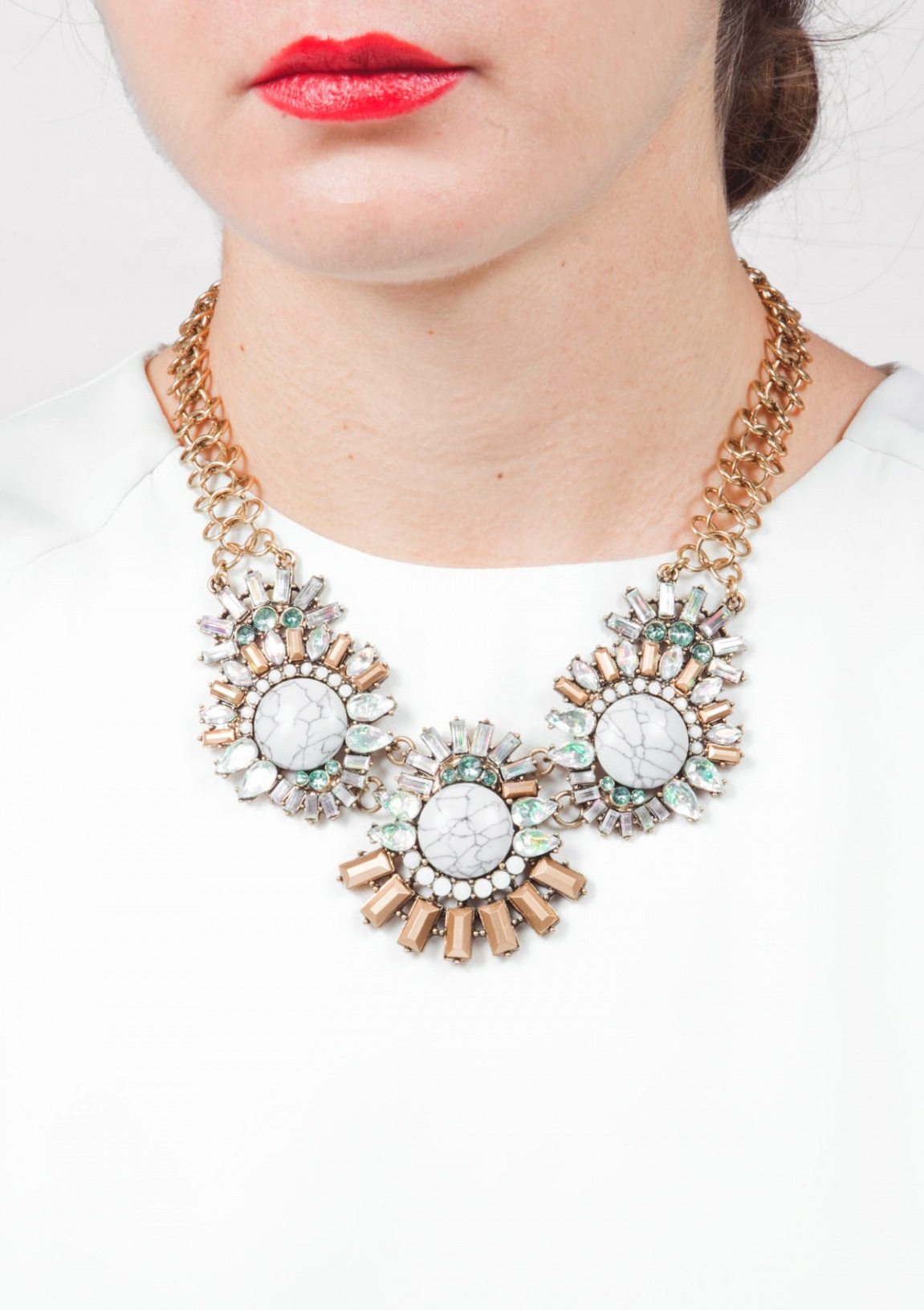 Sparkling Marble Statement Necklace Intended For Recent Sparkling Pattern Necklaces (Gallery 25 of 25)