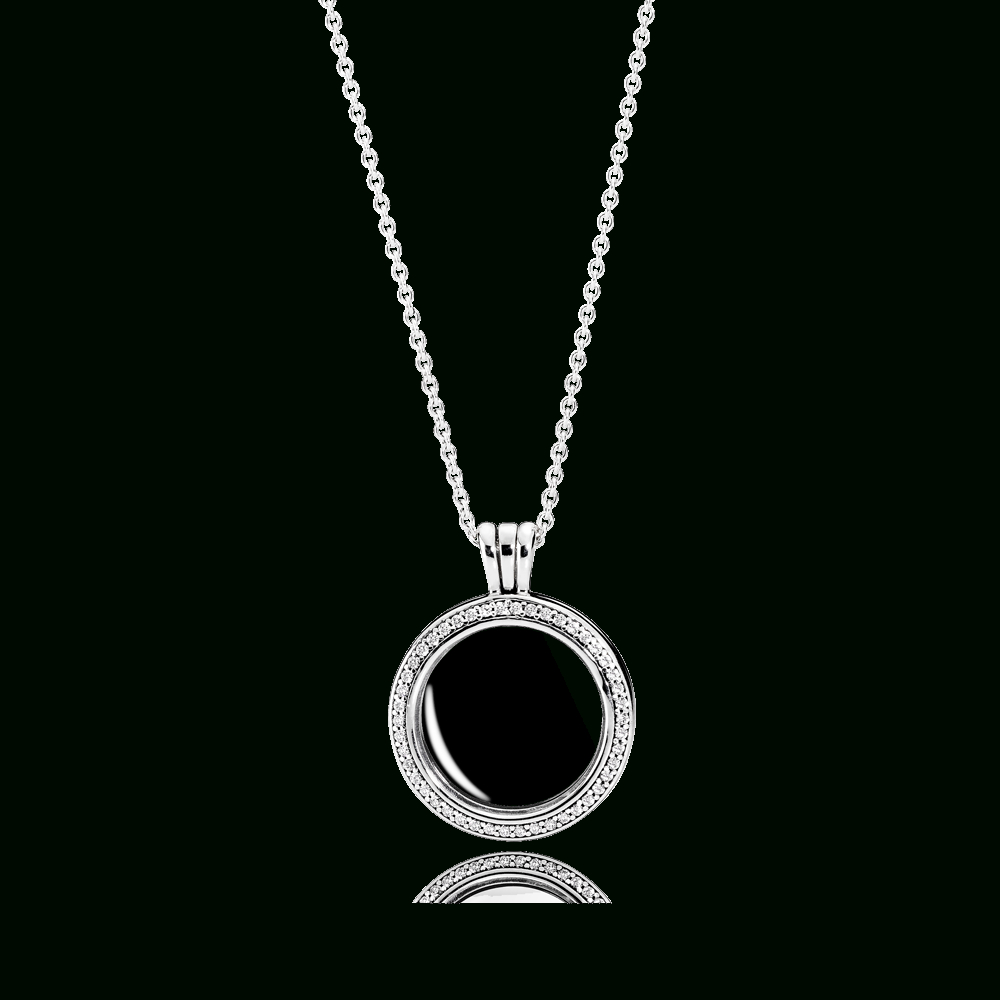 Sparkling Pandora Floating Locket Within Most Current Pandora Lockets Logo Dangle Charm Necklaces (View 10 of 25)