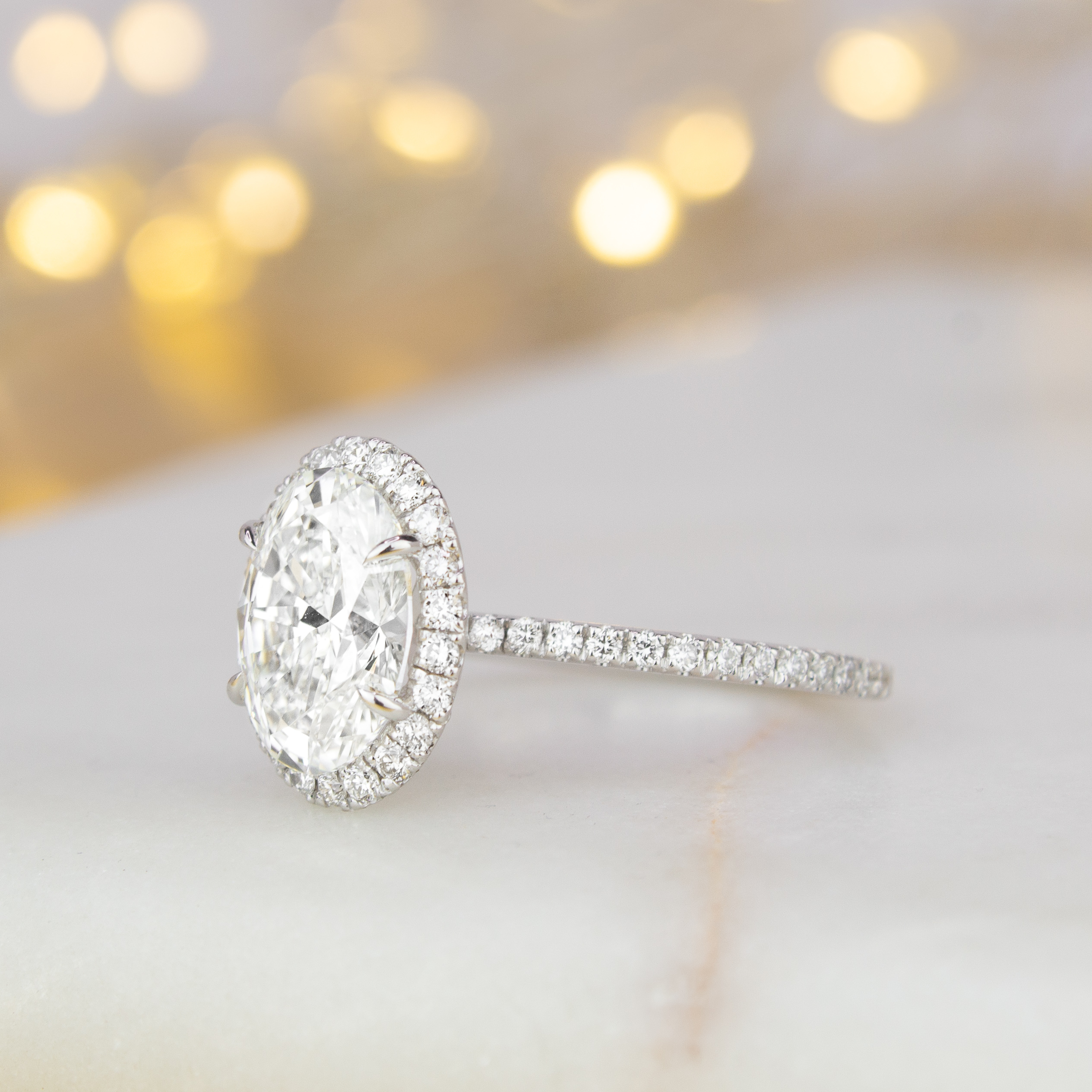 Sparkling Pavé Engagement Rings | Brilliant Earth Inside Most Recently Released Sparkling Pavé Band Rings (Gallery 4 of 25)