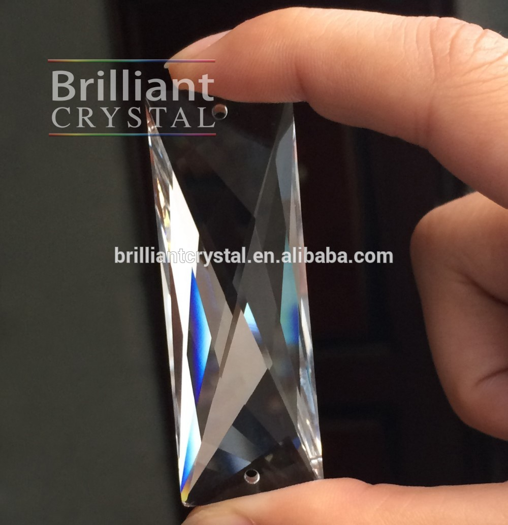 Sparkling Shining Machine Cut Chandelier Prisms Replacement Crystal In Most Recently Released Sparkling Teardrop Chandelier Pendant Necklaces (View 15 of 25)