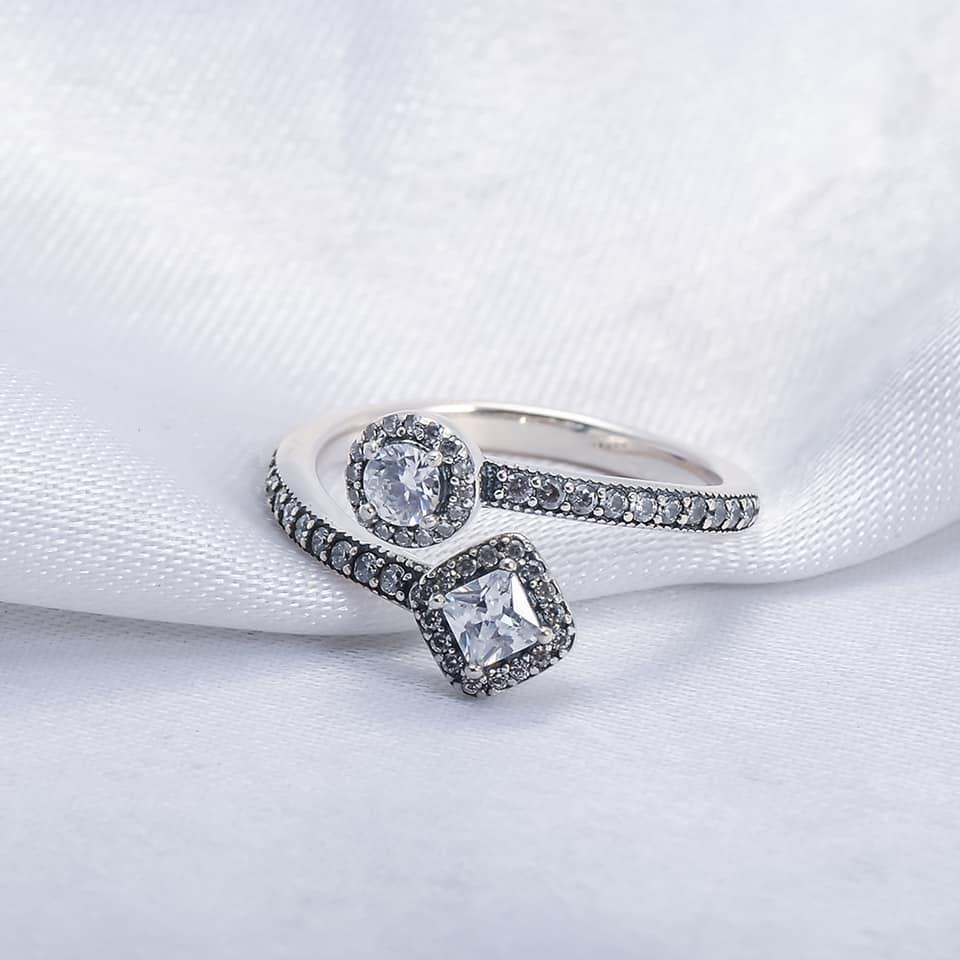 Sparkling Square & Circle Open Ring With Regard To Most Recently Released Sparkling Square & Circle Open Rings (Gallery 6 of 25)