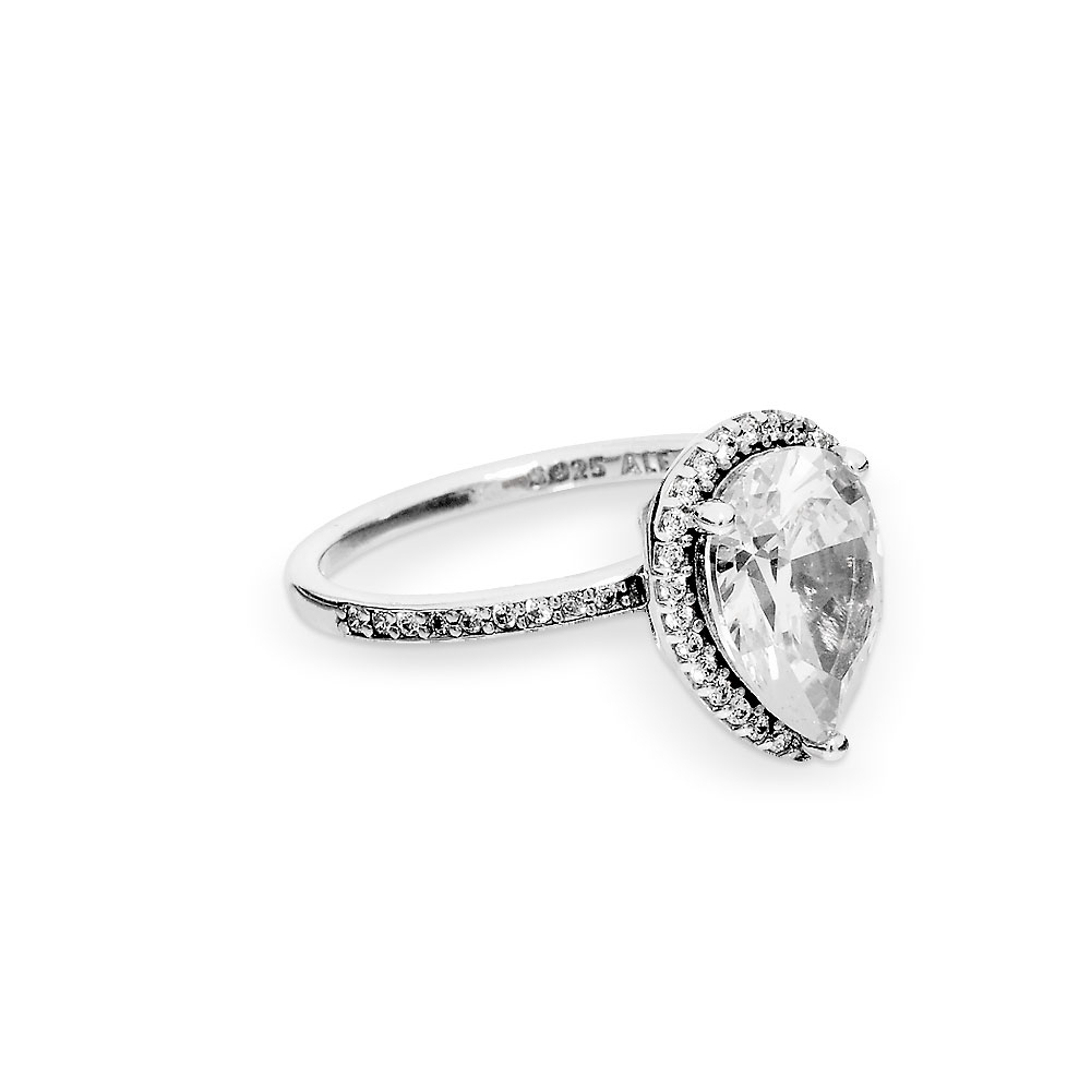 Sparkling Teardrop Halo Ring Intended For Recent Sparkling Teardrop Halo Rings (View 7 of 25)