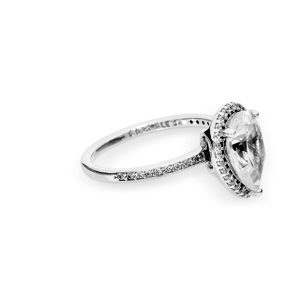 Sparkling Teardrop Halo Ring Pertaining To Current Sparkling Teardrop Halo Rings (View 8 of 25)