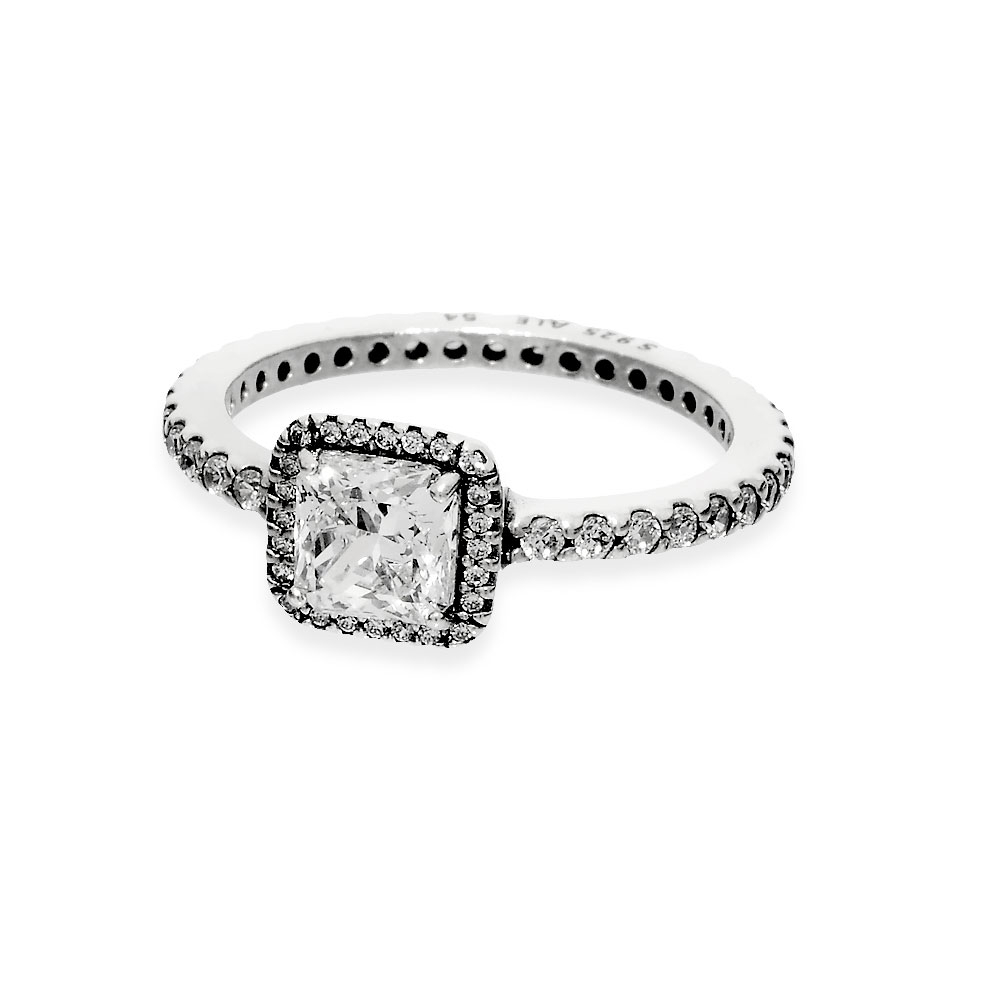 Square Sparkle Halo Ring In Most Up To Date Square Sparkle Halo Rings (View 4 of 25)