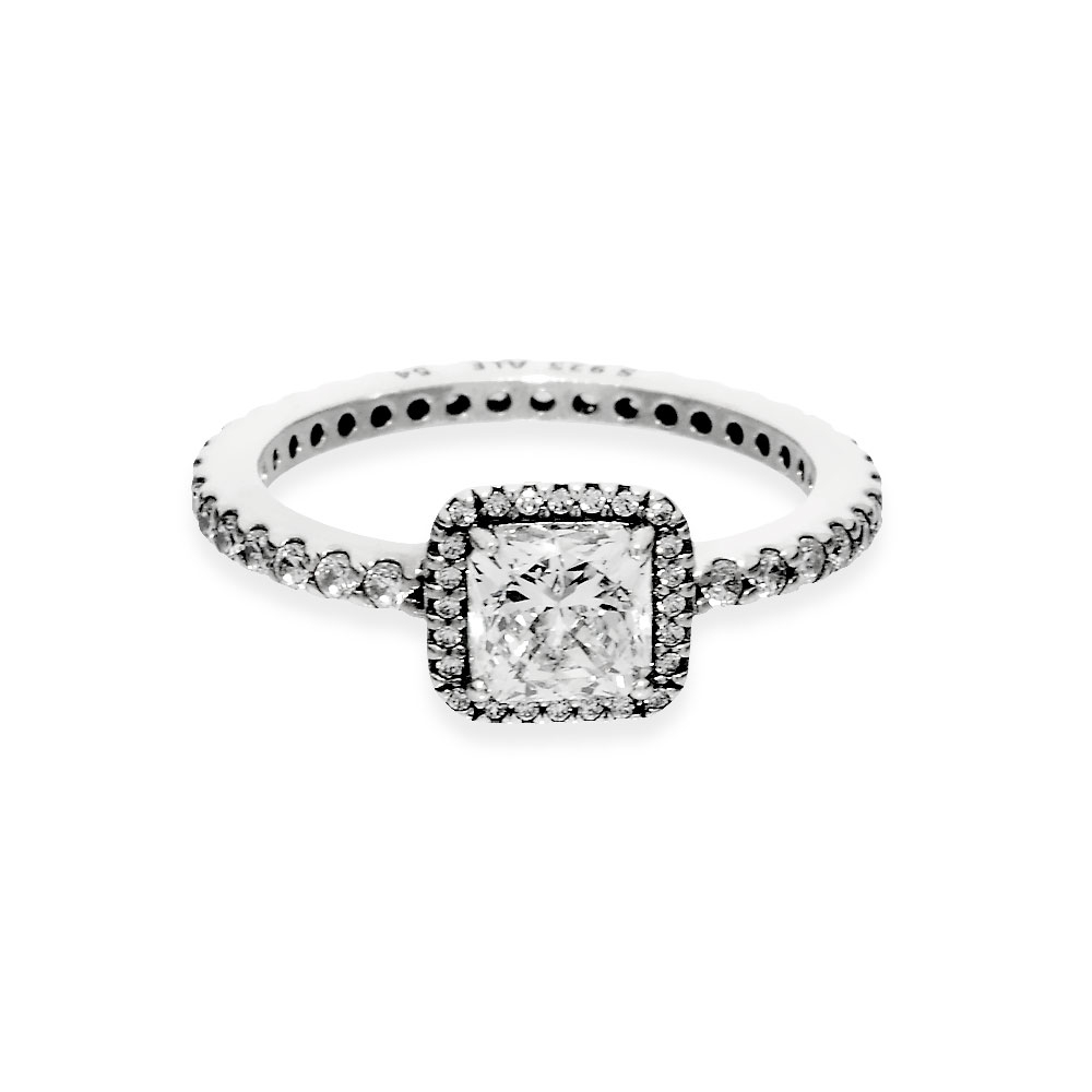 Featured Photo of Square Sparkle Halo Rings