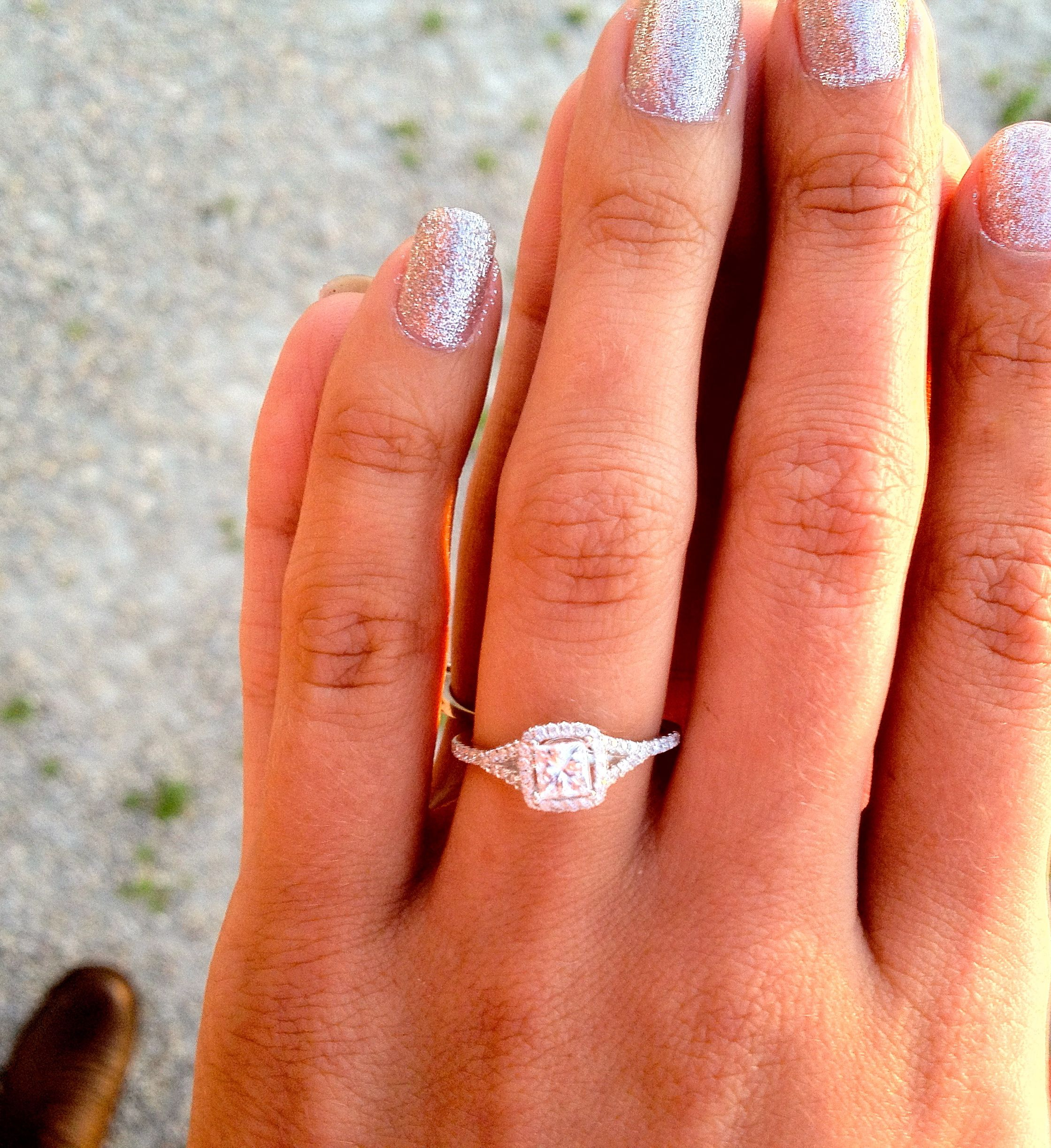 Square Wedding Rings Best Photos | Wedding Stuff | Square Wedding Intended For Best And Newest Square Sparkle Halo Rings (View 6 of 25)