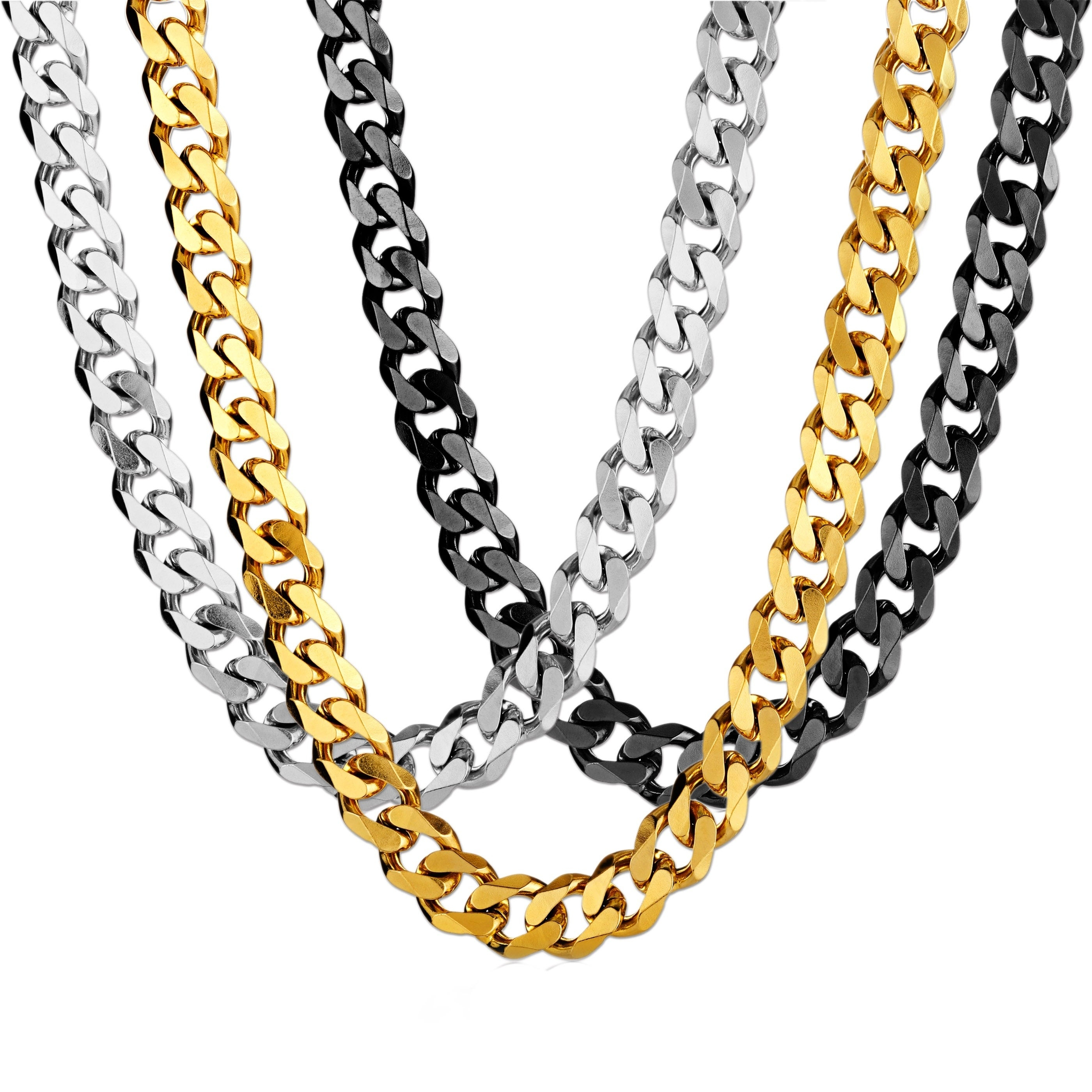 Stainless Steel Cuban Curb Chain Necklace (14Mm Wide) – 24 Inches Intended For Most Popular Curb Chain Necklaces (Gallery 1 of 25)