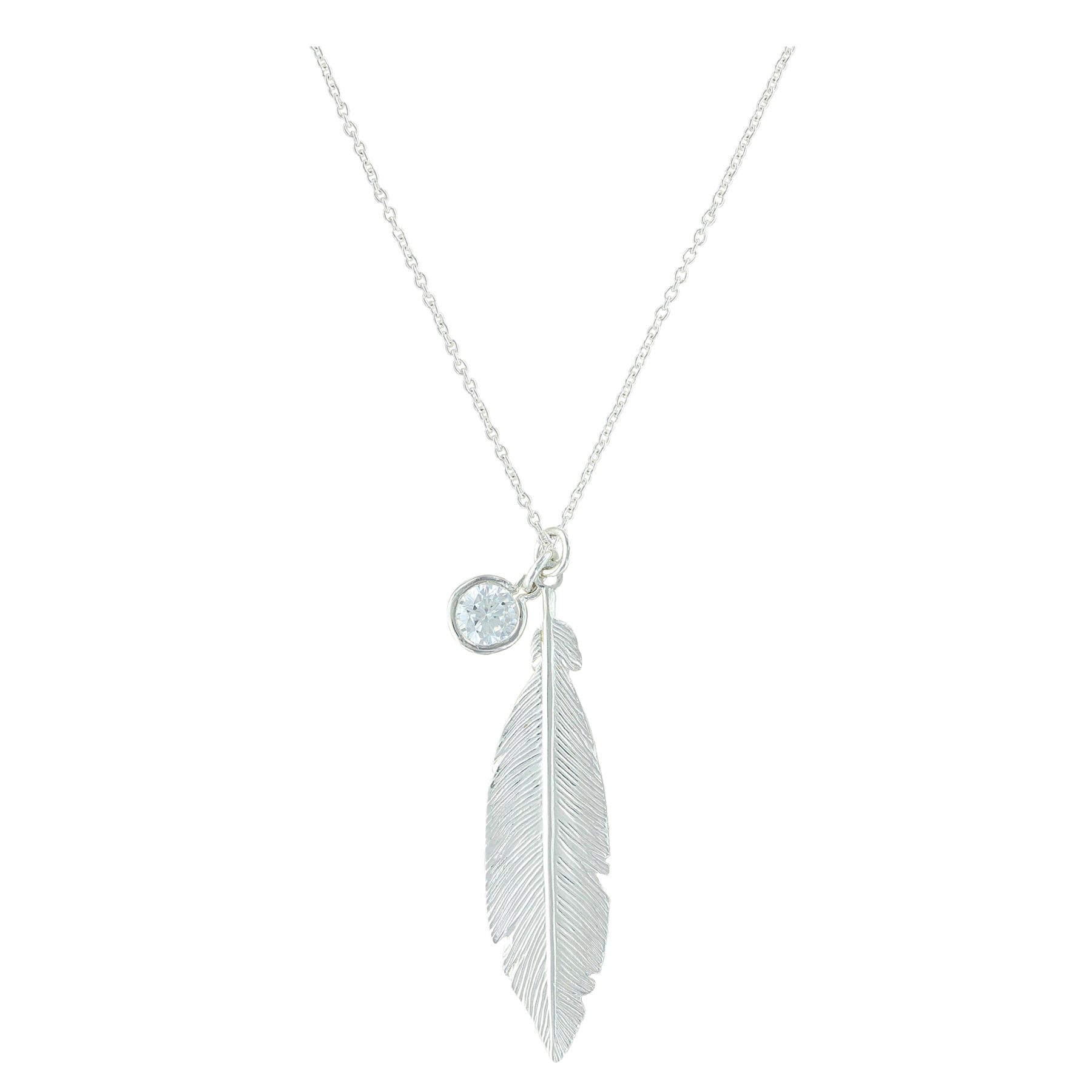 Starlight Feather Charm Necklace Regarding Most Recent Shimmering Feather Pendant Necklaces (View 20 of 25)