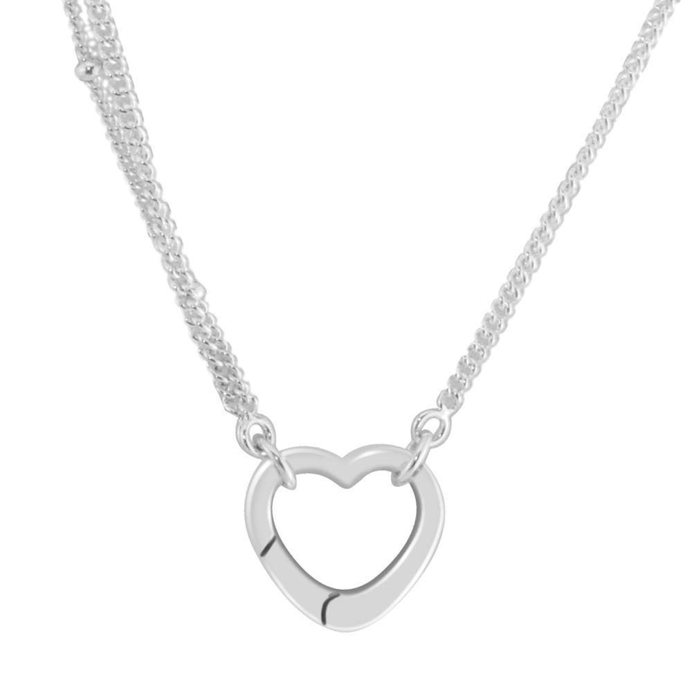 Statement Pendant Necklaces Authentic 925 Sterling Silver Open Heart Necklaces & Pendants Jewelry Making Women Accessories Regarding 2019 Open Heart Necklaces (Gallery 11 of 25)