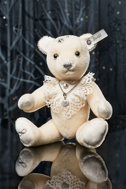 Steiff 034251 Wedding Bride Teddy Bear | Steiff | Teddy Bear Inside 2020 Theodore Bear Pendant Necklaces (View 17 of 25)