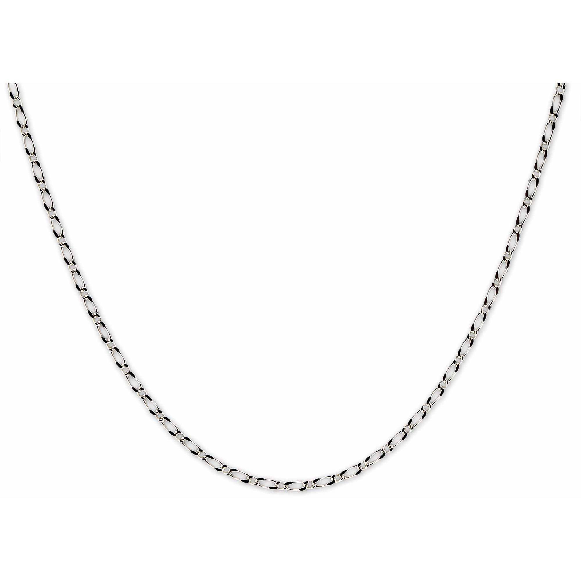 "Sterling Silver 1Mm Diagonal Box Italian Chain Necklace, 16"" In Newest Silver Chain Necklaces (View 20 of 25)"