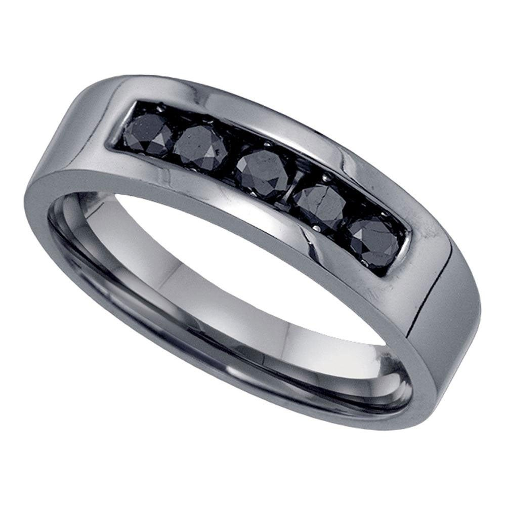 Featured Photo of Enhanced Black Diamond Anniversary Bands In Sterling Silver