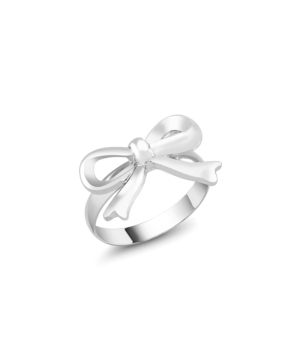 Sterling Silver Bow Ring With Current Classic Bow Rings (Gallery 10 of 25)