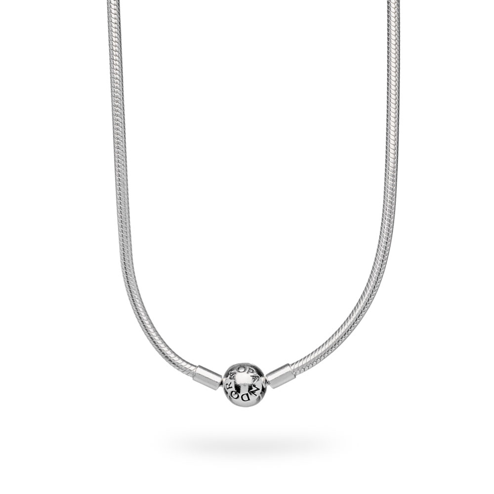 Sterling Silver Charm Necklace Inside Most Recently Released Pandora Moments Small O Pendant Necklaces (View 17 of 25)