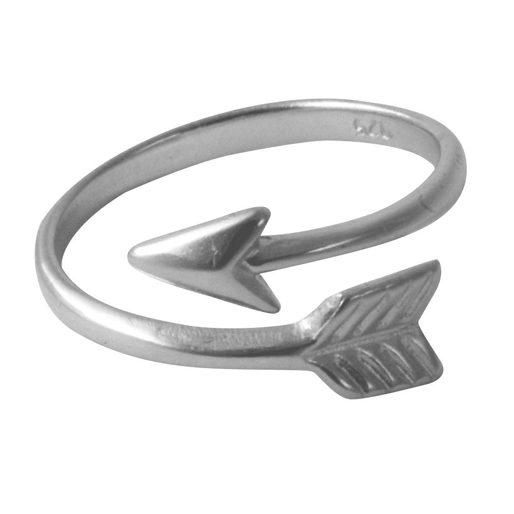 Sterling Silver Chevron Arrow Ring Wrap Around | Products | Arrow In 2018 Wrap Around Arrow Rings (View 13 of 25)
