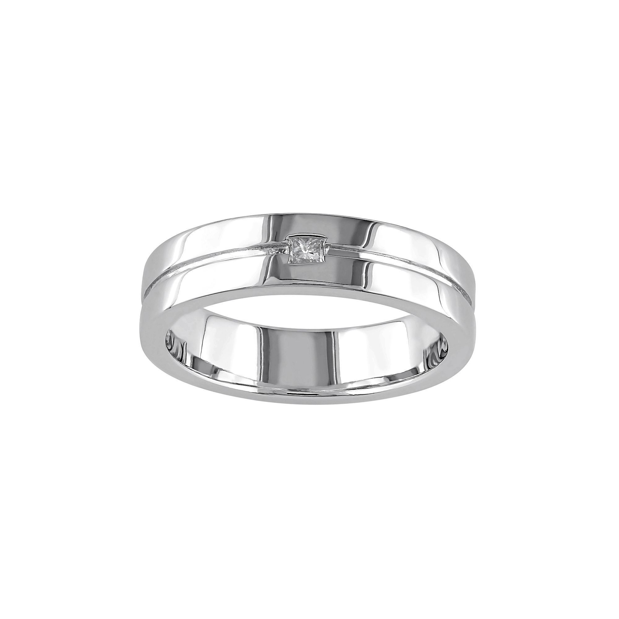 Sterling Silver Diamond Accent Wedding Ring, Women's, Size Inside Recent Diamond Accent Anniversary Bands In Sterling Silver (Gallery 24 of 25)