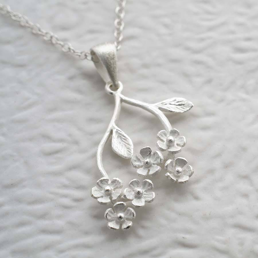 Sterling Silver Forget Me Not Pendant In 2019 Forget Me Not Necklaces (Gallery 5 of 25)