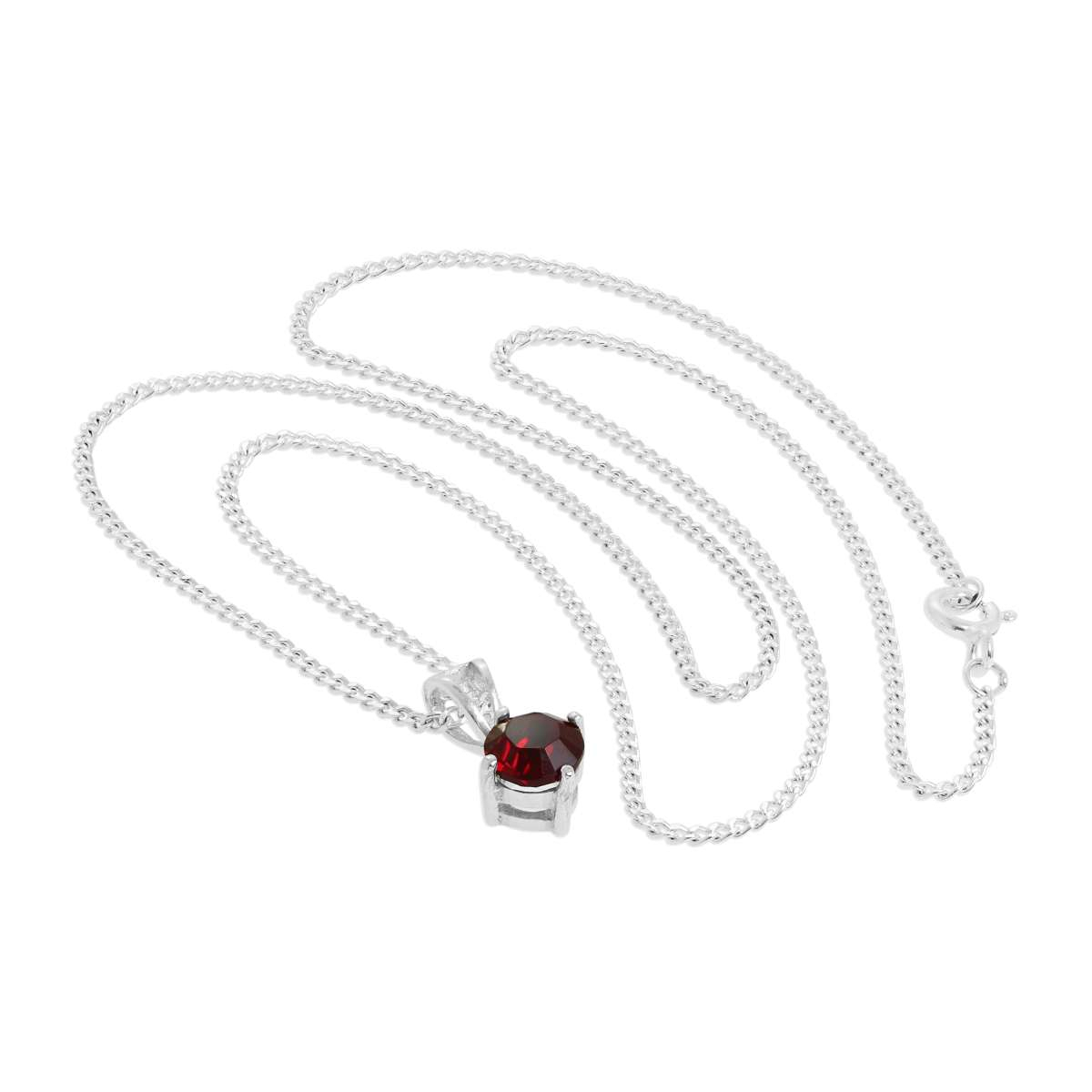 Sterling Silver & Garnet Crystal Made With Swarovski Elements January  Birthstone Pendant Necklace 16 – 24 Inches | Jewellerybox.co.uk With Recent Garnet Red January Birthstone Locket Element Necklaces (Gallery 24 of 25)