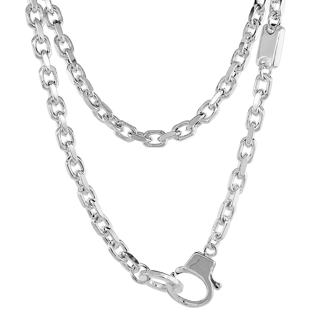 Sterling Silver Jewelry Chains Cable Chains Throughout Current Cable Chain Necklaces (Gallery 11 of 25)