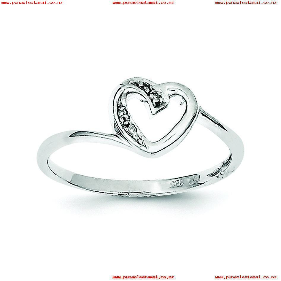 Sterling Silver Open Back Cut Out Sides Rhodium Plated Rhodium With Regard To Most Current Polished Heart Open Rings (View 3 of 25)
