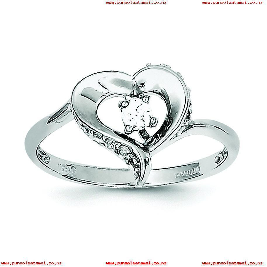 Sterling Silver Polished Open Back Rhodium Plated Rhodium Plated Pertaining To Most Current Polished Heart Open Rings (View 23 of 25)