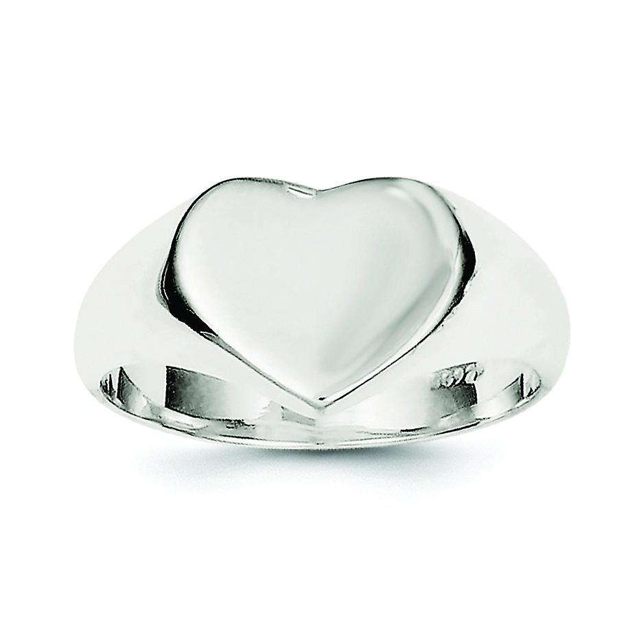 Sterling Silver Solid Polished Open Back Engravable Heart Signet Ring –  Ring Size: 6 To 8 In 2018 Polished Heart Open Rings (Gallery 7 of 25)