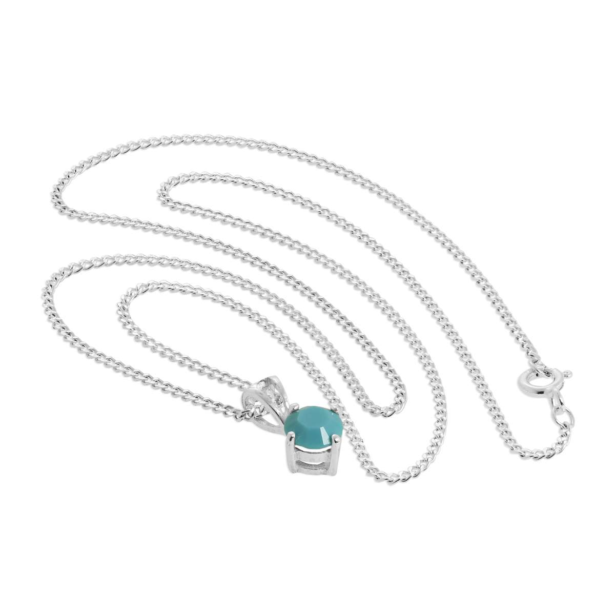 Sterling Silver & Turquoise Crystal Made With Swarovski Elements December  Birthstone Pendant Necklace 16 – 24 Inches | Jewellerybox.co (View 19 of 25)