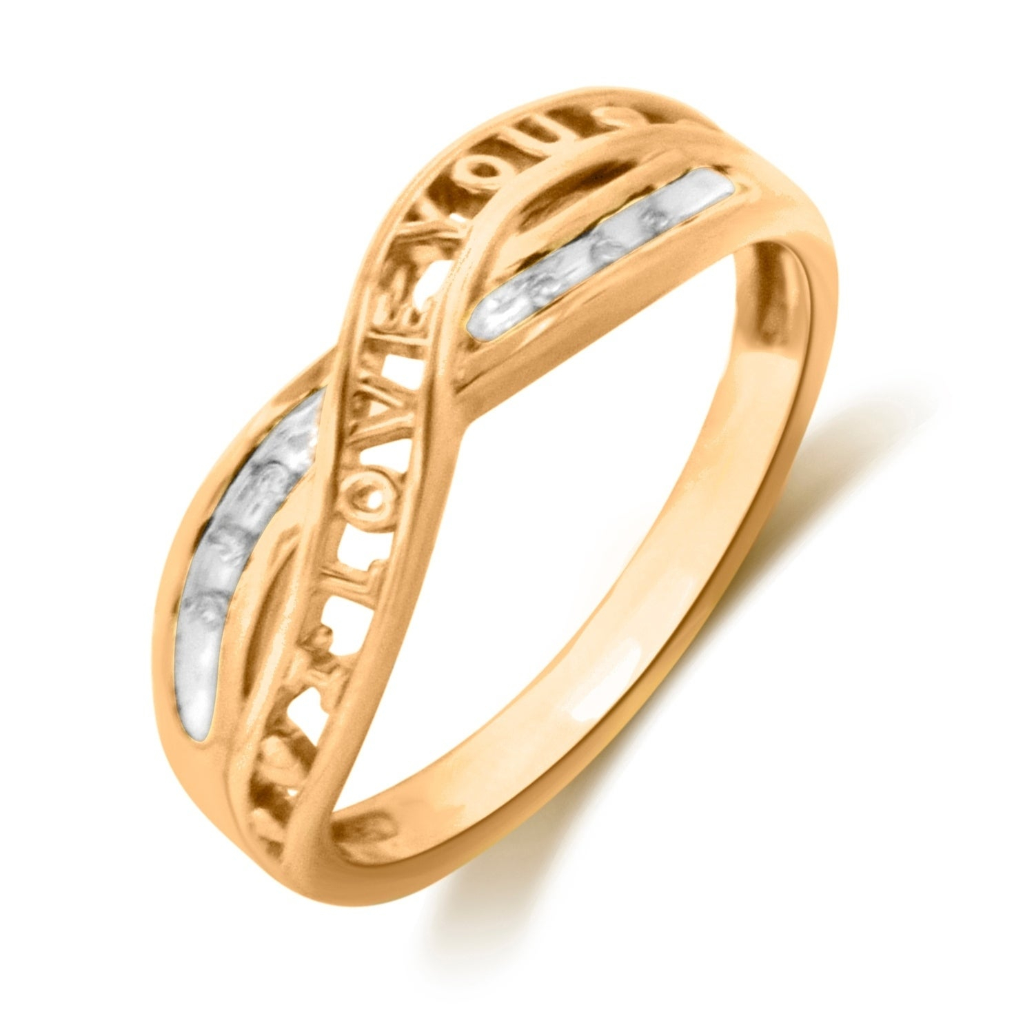 Sterling Silver With Yellow Gold Plate Diamond Accent Anniversary Ring With Recent Diamond Accent Anniversary Bands In Gold (View 6 of 25)