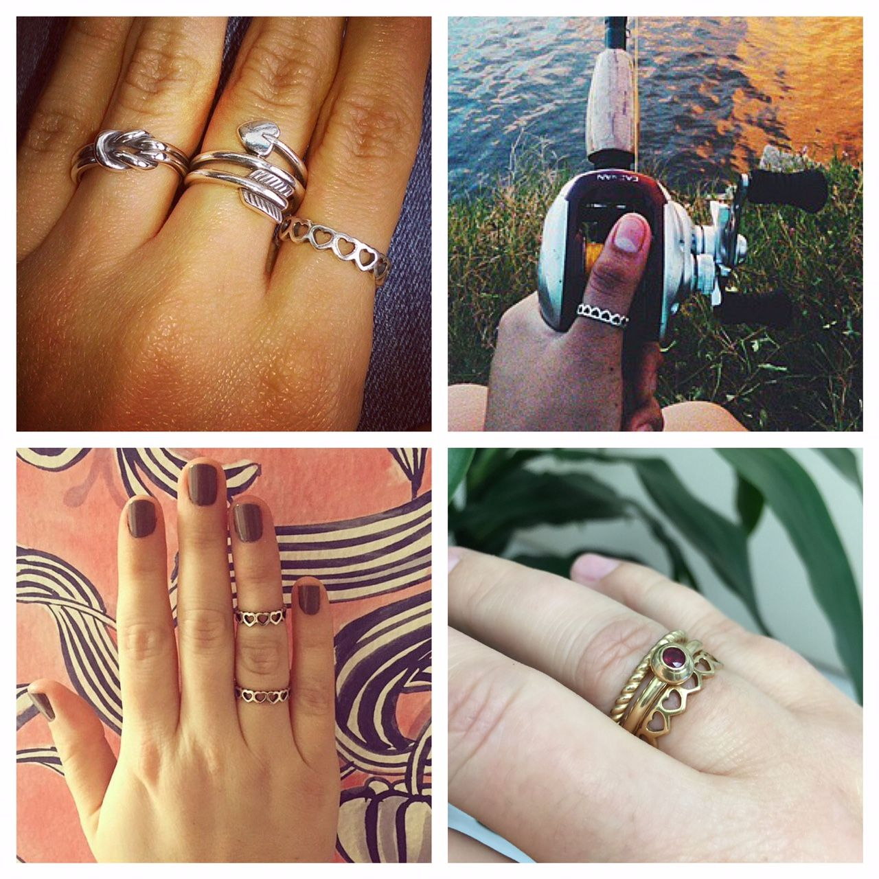 Style Tip: The Tiny Hearts Band Can Be Worn Many Ways – As A Thumb In Most Recently Released Band Of Hearts Rings (View 10 of 25)