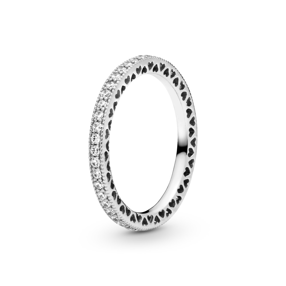 Style Your Rings | Custom Ring Combination Within Latest Entwined Circles Pandora Logo & Sparkle Rings (Gallery 19 of 25)