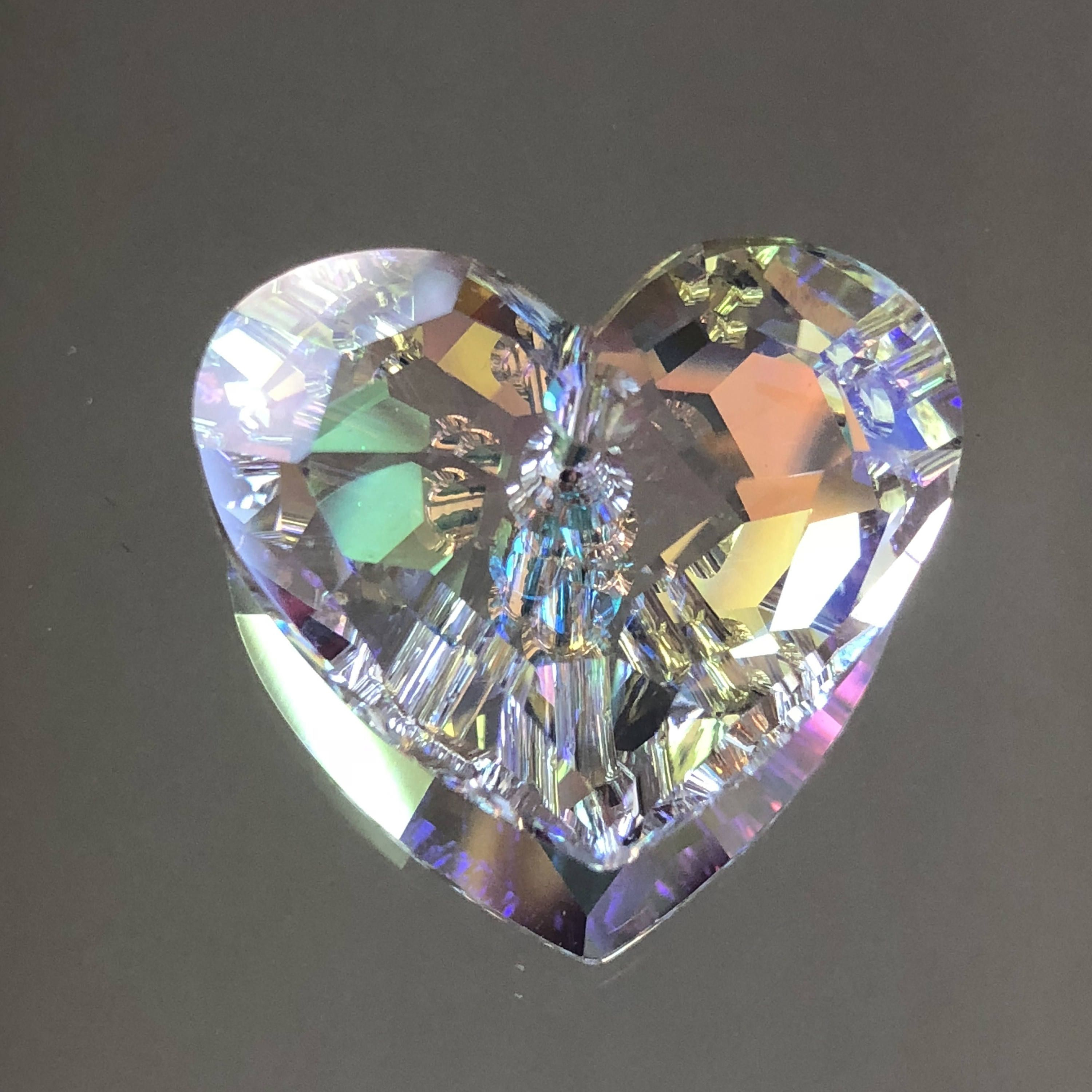 Swarovski Crystals – 28Mm Crystal 'truly In Love' Heart Pendant With Most Current Clear Heart Beaded Rings (Gallery 21 of 25)