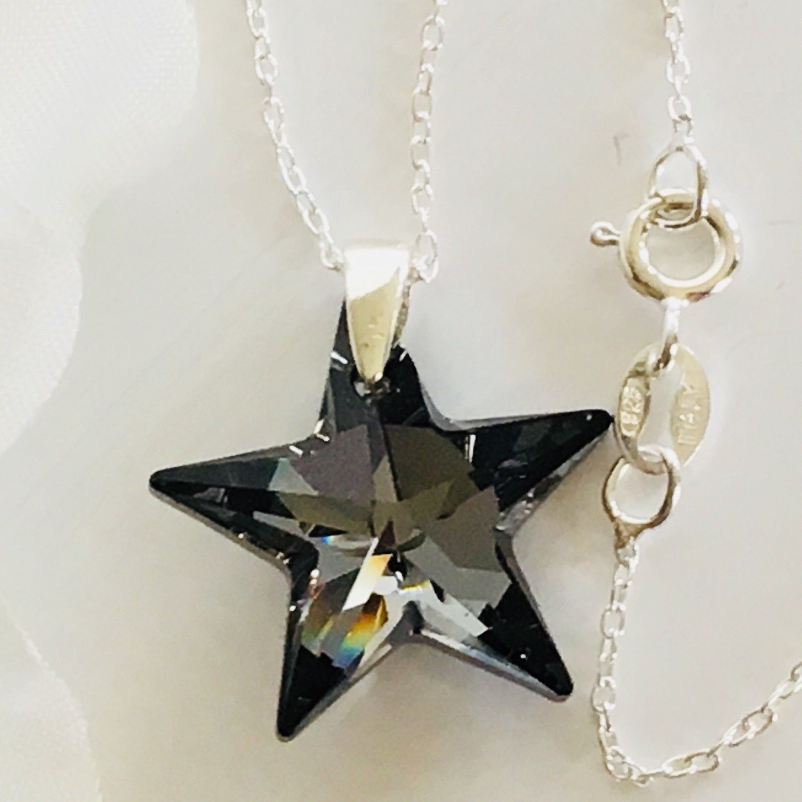 Swarovski Elements Silver Night Star Throughout Current Sparkling Gift Locket Element Necklaces (Gallery 21 of 25)