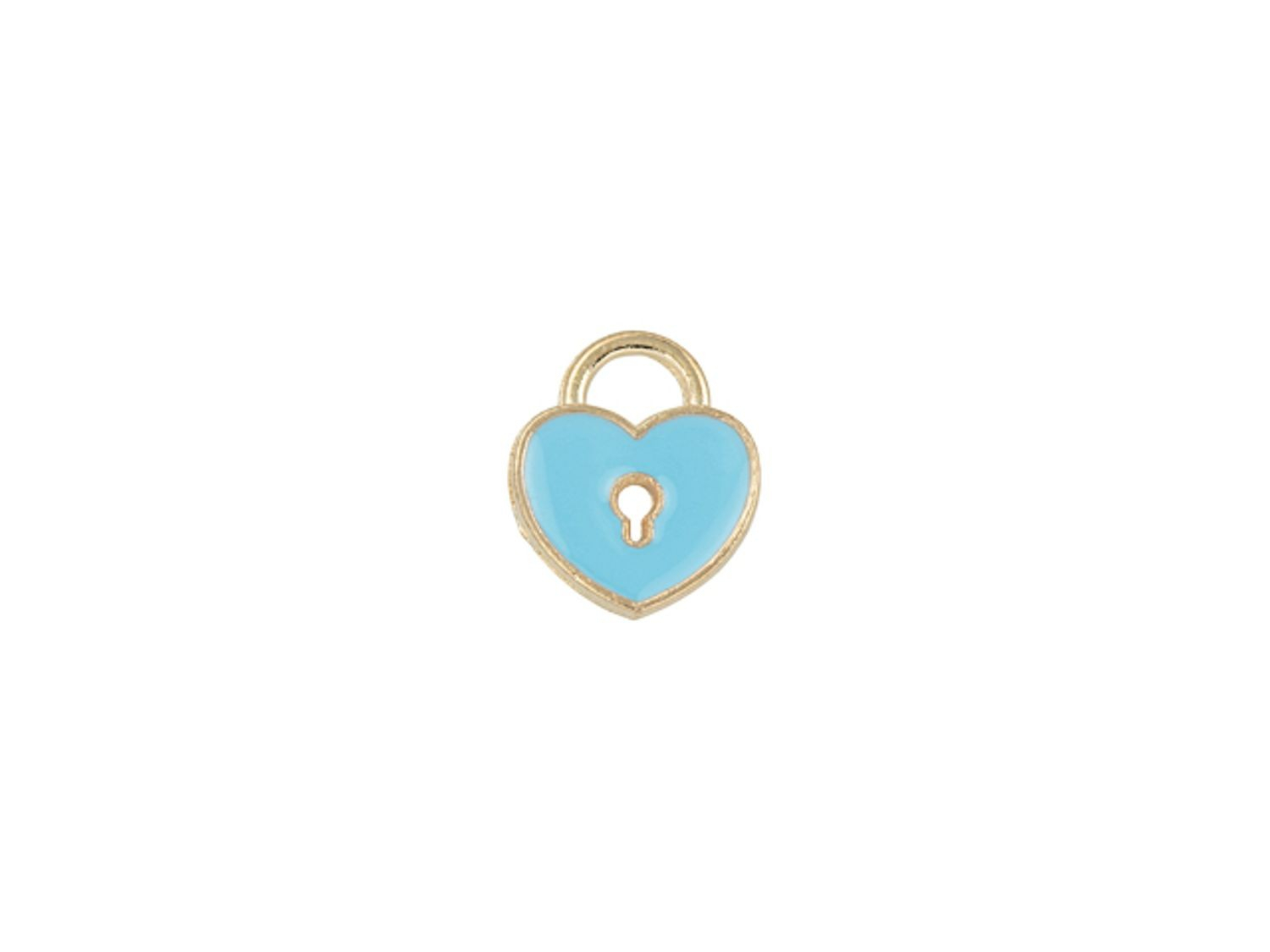 Sweet & Petite Charms 11 X 13mm Light Blue Heart Locket (10pc Pack) Intended For Most Current Baby Blue Enamel Blue Heart Petite Locket Charm Necklaces (View 4 of 25)