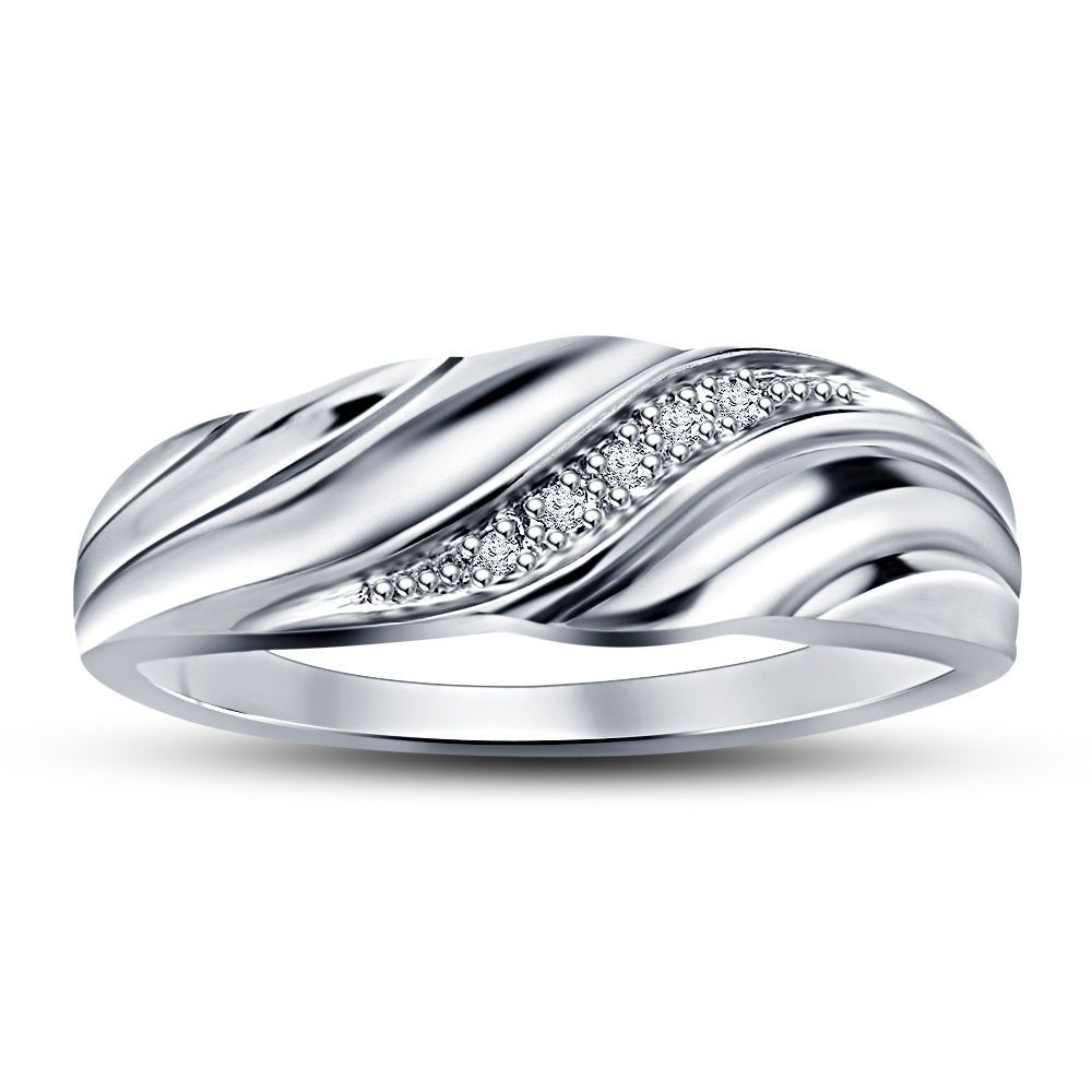 Sz 7 8 9 Avl Slant Diamond Men's Wedding Ring In White Gold Regarding Latest Diamond Slant Anniversary Bands In White Gold (View 3 of 25)